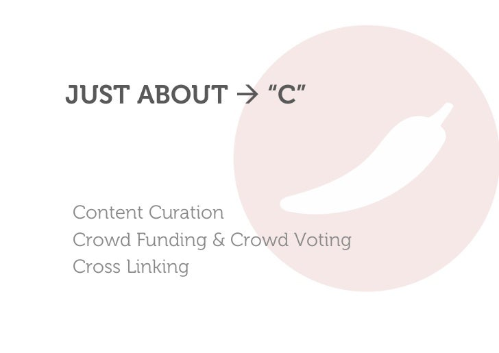"""JUST ABOUT  """"C""""Content CurationCrowd Funding & Crowd VotingCross Linking"""