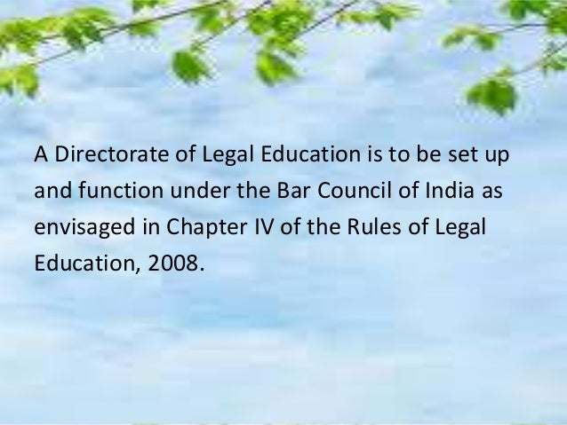 Proactive And Imaginative Role Of BCI In Legal Education