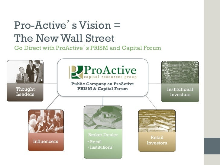 Pro-Active s Vision =The New Wall StreetGo Direct with ProActive s PRISM and Capital Forum                    Public Compa...