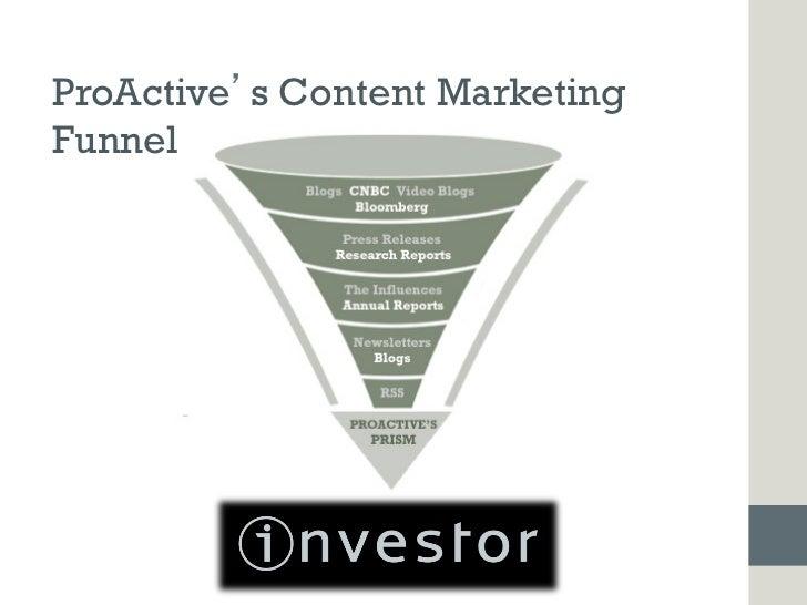 ProActive s Content MarketingFunnel