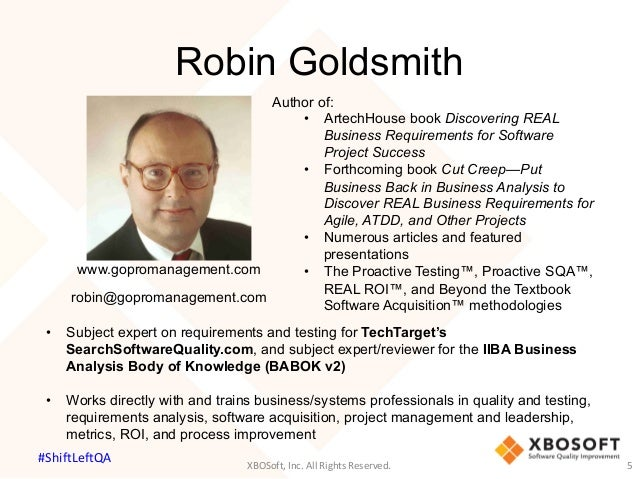 discovering real business requirements for software project success goldsmith robin