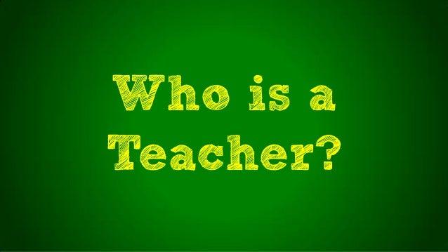 Who is aTeacher?