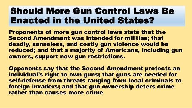 should more gun control laws be enacted
