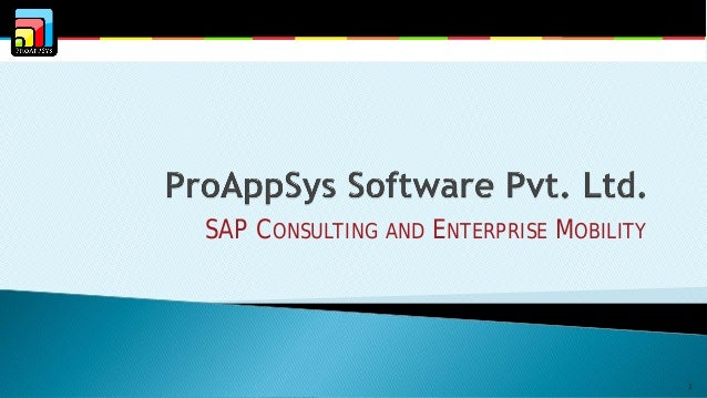 SAP CONSULTING AND ENTERPRISE MOBILITY  1