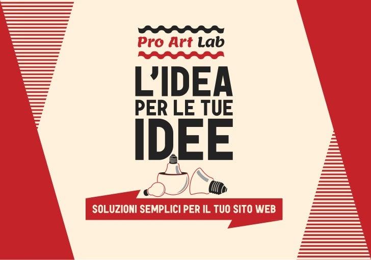 pro art lab siti web per artisti un control panel