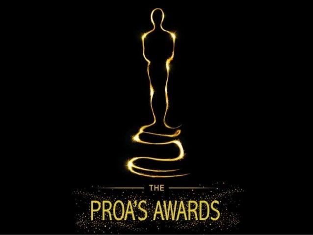 PROA AWARD'S: PREMIS DE CINEMA LOW-COST Els PROA AWAR'S, és la presentació final dels treballs del projecte de Cultura Aud...