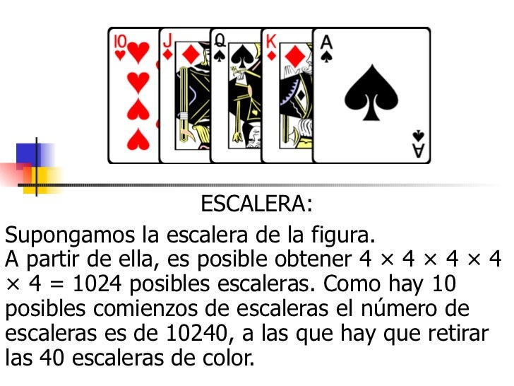 Que gana en el poker escalera o color