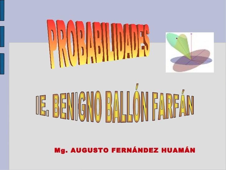 Mg. AUGUSTO FERNÁNDEZ HUAMÁN