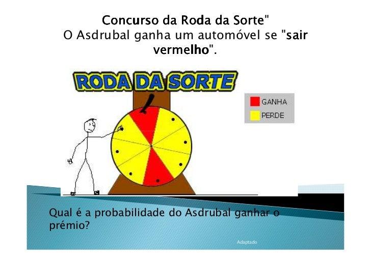 """Sorte""""        Concurso da Roda da Sorte  O Asdrubal ganha um automóvel se """"sair                                    sair   ..."""