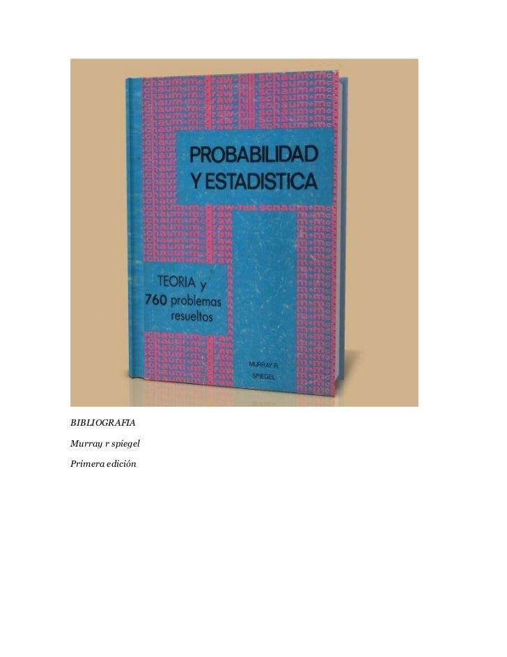BIBLIOGRAFIAMurray r spiegelPrimera edición