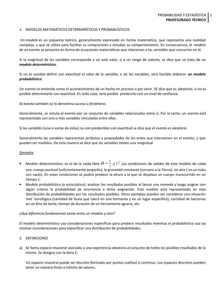 PROBABILIDAD Y ESTADÍSTICA 1                                                                                              ...