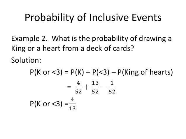 ... 36. Probability of Inclusive ...
