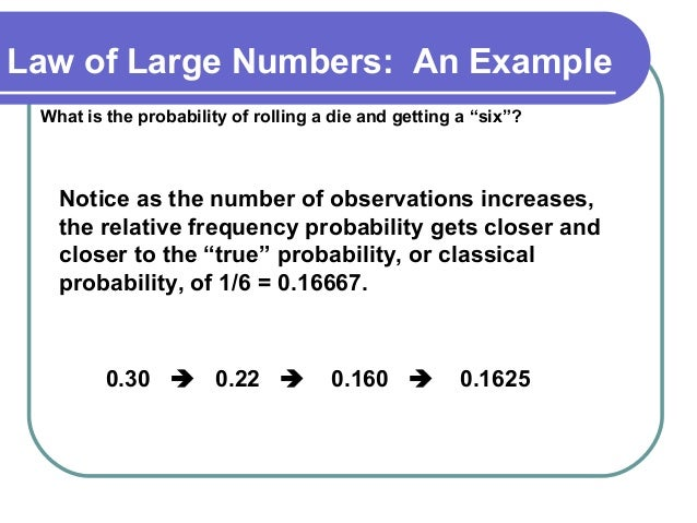 Law of large numbers - from wolfram mathworld.