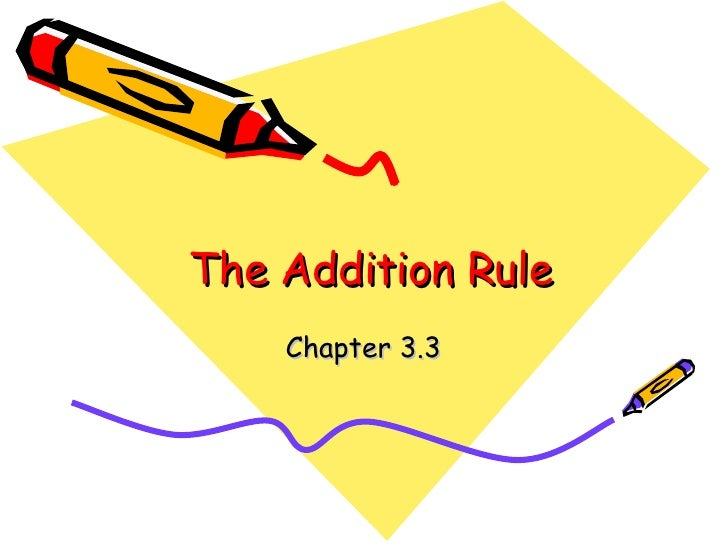 The Addition Rule Chapter 3.3