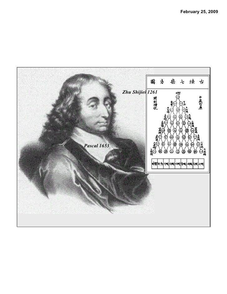 February 25, 2009                   Zhu Shijiei 1261     Pascal 1653