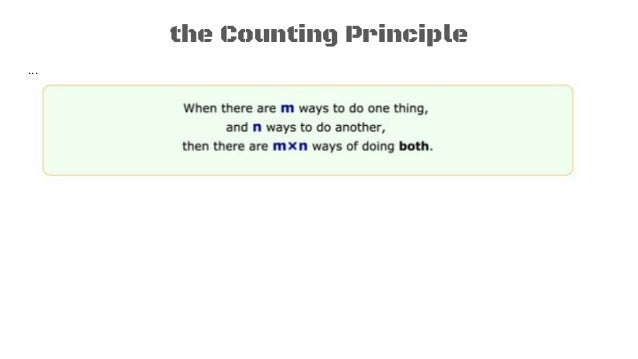 Probability 1 tree diagrams counting principle 6 the counting principle ccuart Gallery