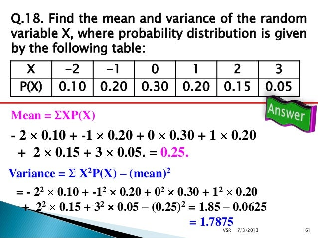 Probability 2 for Q table probability