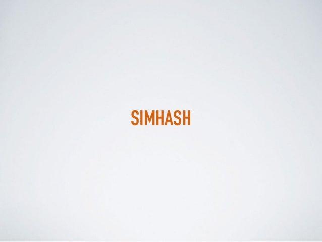 SIMHASH