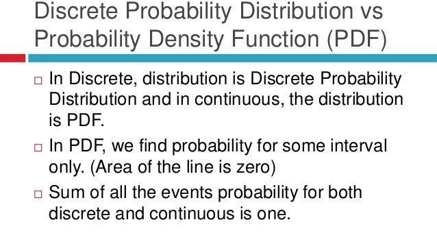 Pdf probability distribution