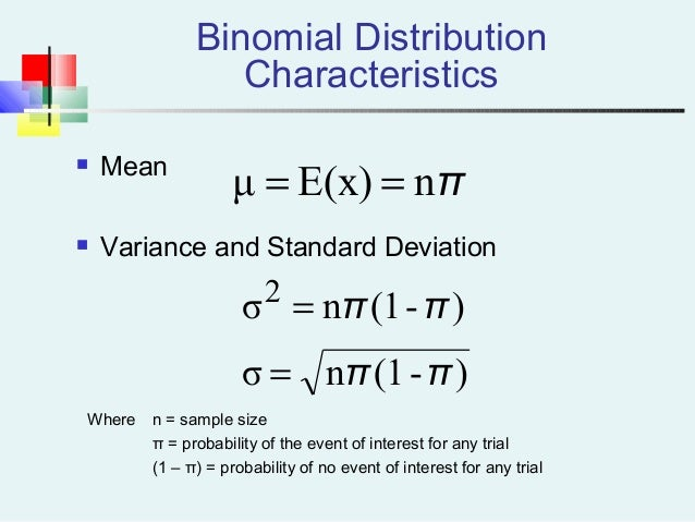 Probability distribution 2 32 binomial distribution characteristics mean variance and standard deviation ccuart Images