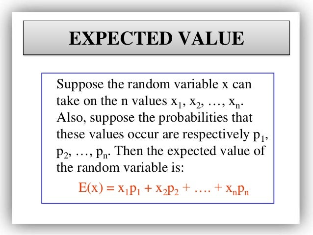 expected value probability formula
