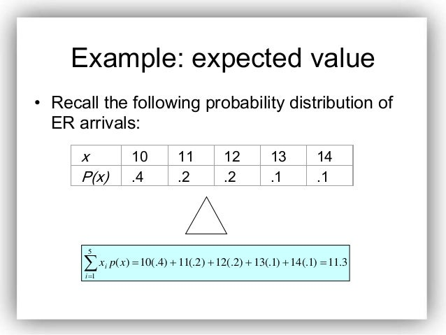 expected value formula probability