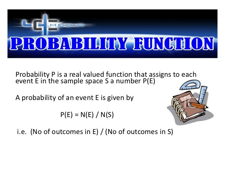Probability P is a real valued function that assigns to eachevent E in the sample space S a number P(E)A probability of an...
