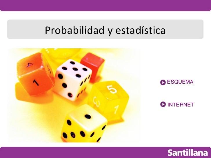 Probabilidad y estadística                             ESQUEMA                             INTERNET