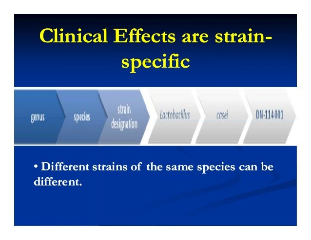 Clinical Effects are strainClinical Effects are strain-- specificspecific •• Different strains of the same species can beD...