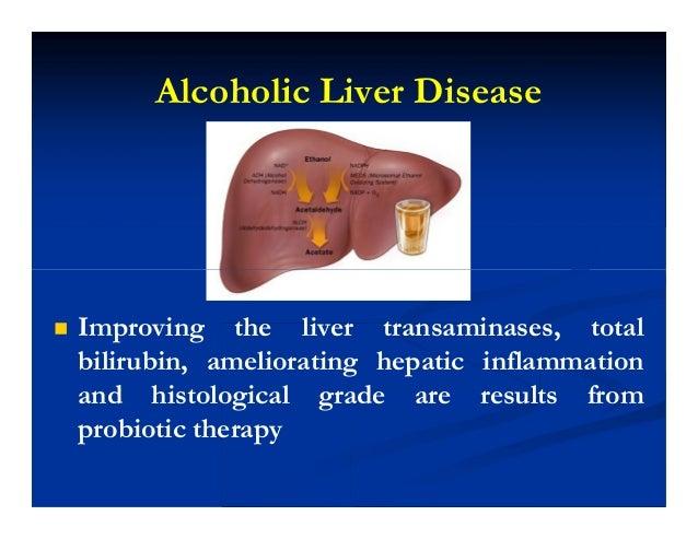Alcoholic Liver Disease  Improving the liver transaminases, total bilirubin, ameliorating hepatic inflammation and histol...