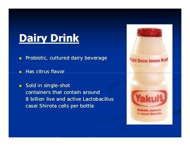 DairyDairy DrinkDrink  Probiotic,Probiotic, culturedcultured dairydairy beveragebeverage  HasHas citruscitrus flavorfl...