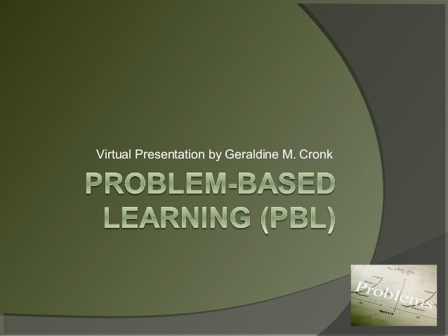 Virtual Presentation by Geraldine M. Cronk