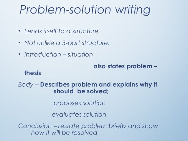 problem solution essay examples