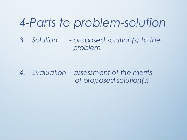 problem solution essay  problem should be solved 4