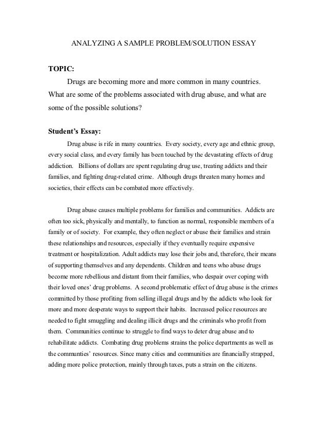 analyzing problems and solutions essay