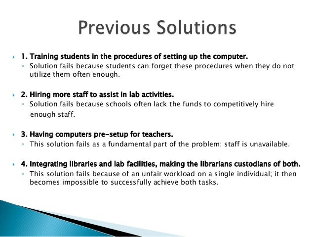 Problem solution presentation