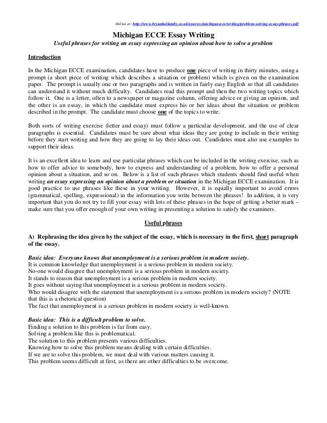problem solution essay sample