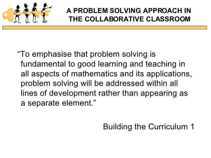 Collaborative Classroom Curriculum ~ Problem solving in the collaborative classroom