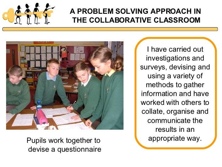 Collaborative Classroom Employment ~ Problem solving in the collaborative classroom