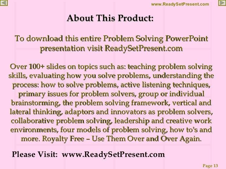 problem solving skill ppt