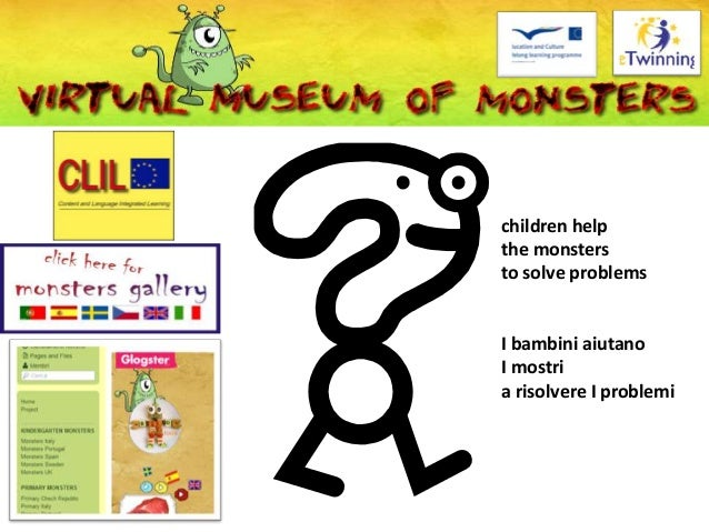 children help the monsters to solve problems I bambini aiutano I mostri a risolvere I problemi