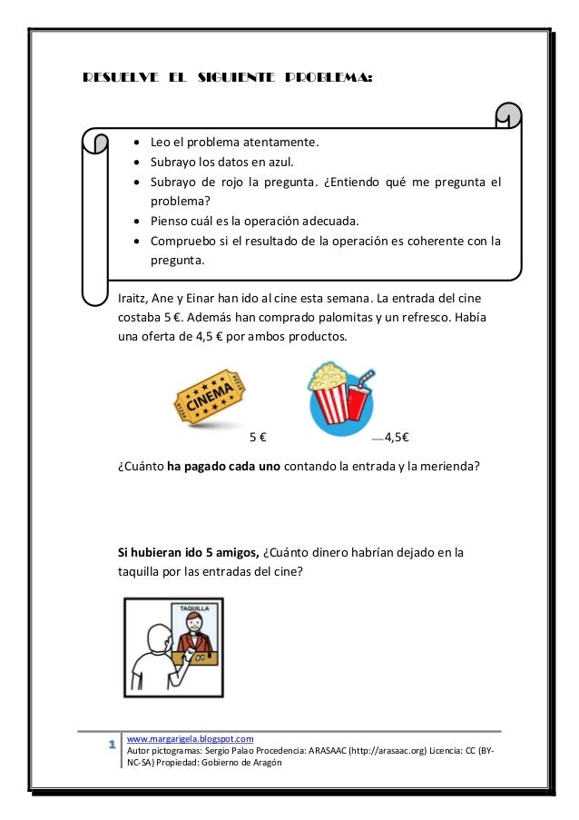 1 www.margarigela.blogspot.com Autor pictogramas: Sergio Palao Procedencia: ARASAAC (http://arasaac.org) Licencia: CC (BY-...