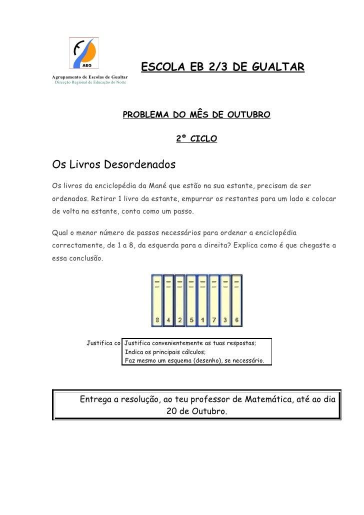 ESCOLA EB 2/3 DE GUALTARAgrupamento de Escolas de Gualtar Direcção Regional de Educação do Norte                          ...
