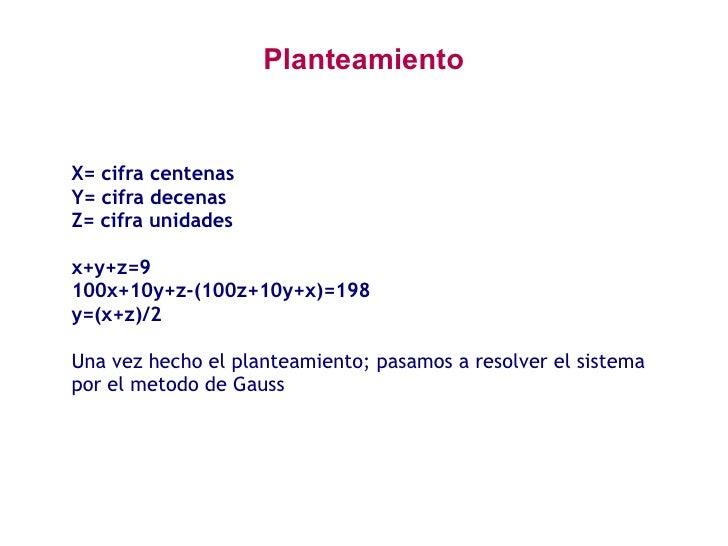 Método de Gauss Slide 2