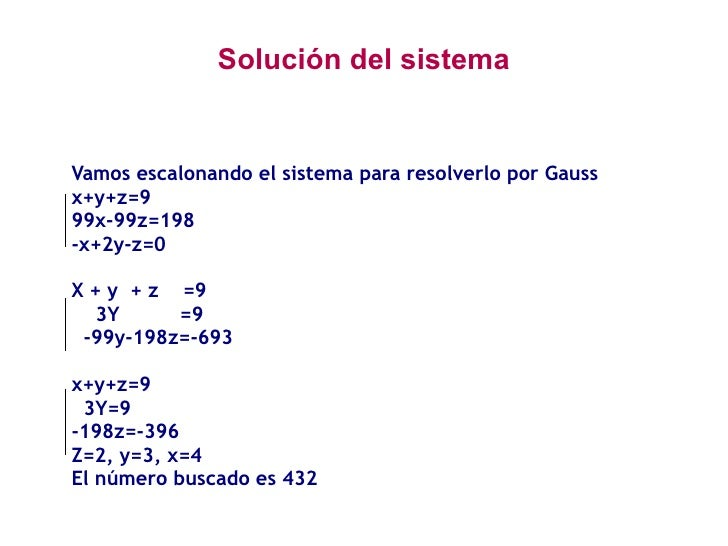Método de Gauss Slide 3