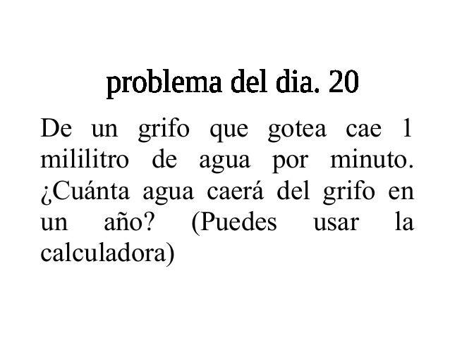 Problemario de 6to - Como arreglar un grifo que gotea ...