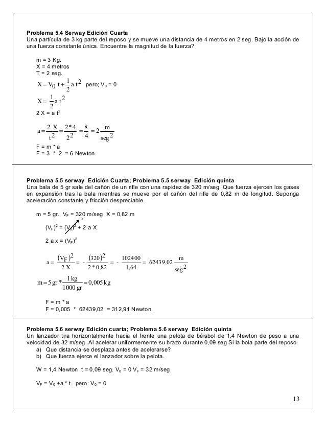Problemas Resueltos Cap 5 Fisica Serway2