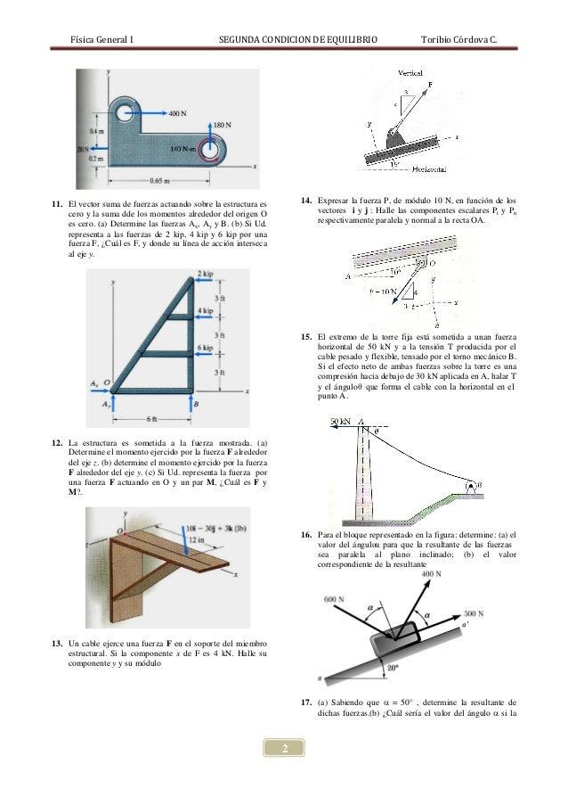 PROBLEMAS 2DA CONDICION DE EQUILIBRIO Slide 2