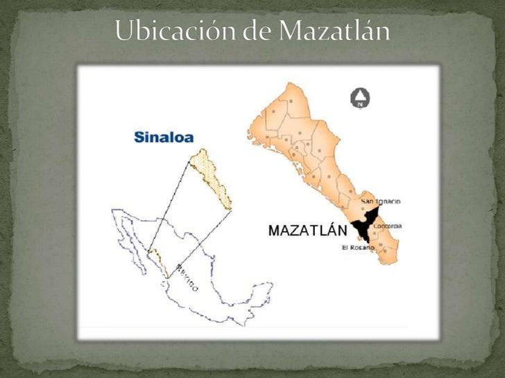 Ubicación de Mazatlán<br />