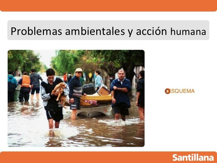 Problemas ambientales y acción humana                             ESQUEMA
